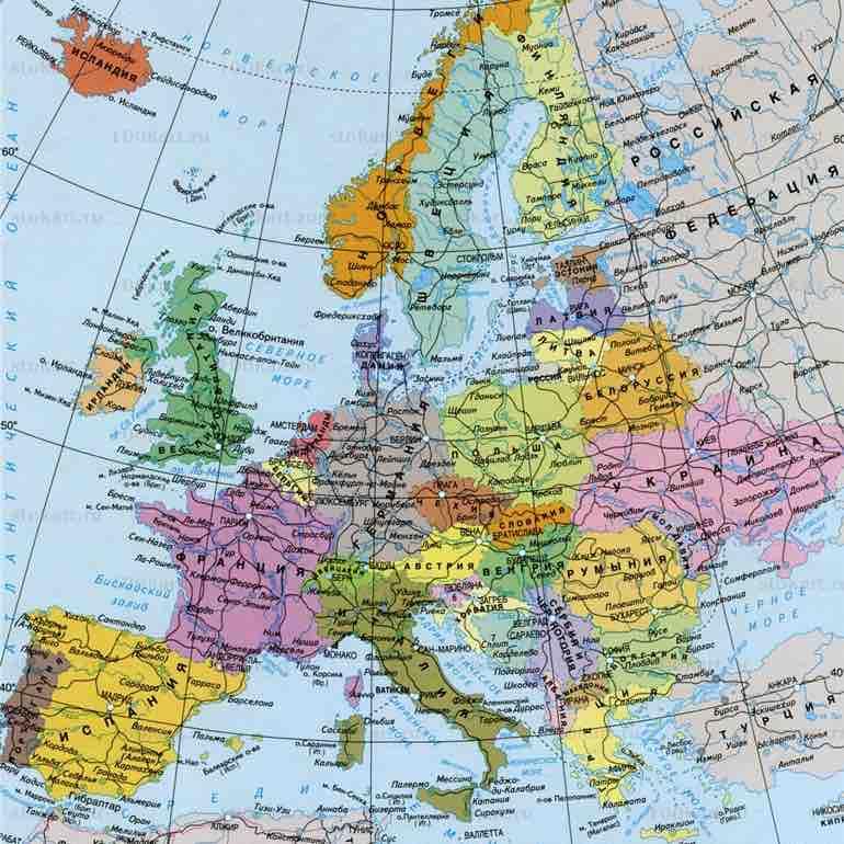 utilisé dans la page Les pays d'Europe en russe. Европа