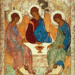 trinite 242x242 - L'icône de la Trinité d'Andreï Roublev. Троица