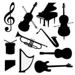 Alice et les instruments de musique en russe. Музыкальные инструменты