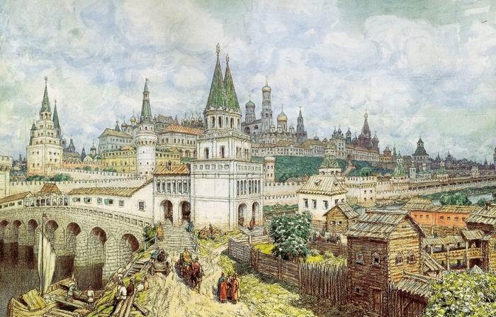 Toile d'Appolinariï Vasnetsov, le Kremlin à la fin du XVIIe siècle