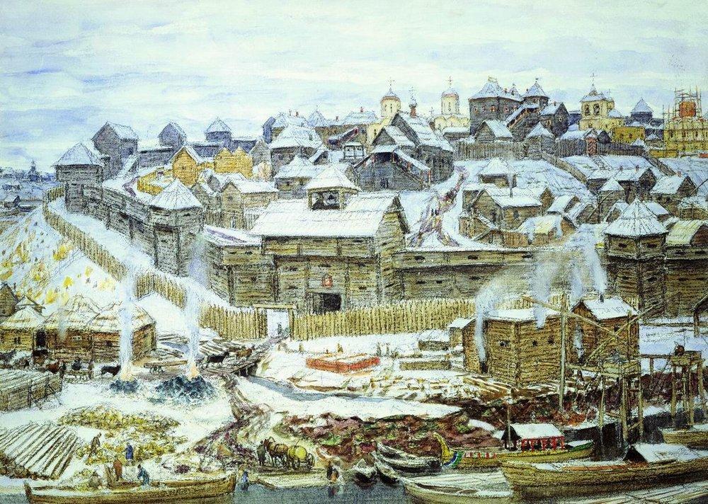 Le Kremlin d'Ivan III, tableau d'Appolinari Vasnetsov