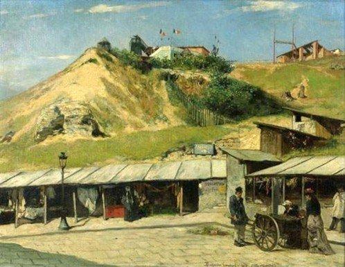 Benjamin Constant - Rue André del Sarte, avant les grands travaux du Sacré-Coeur.