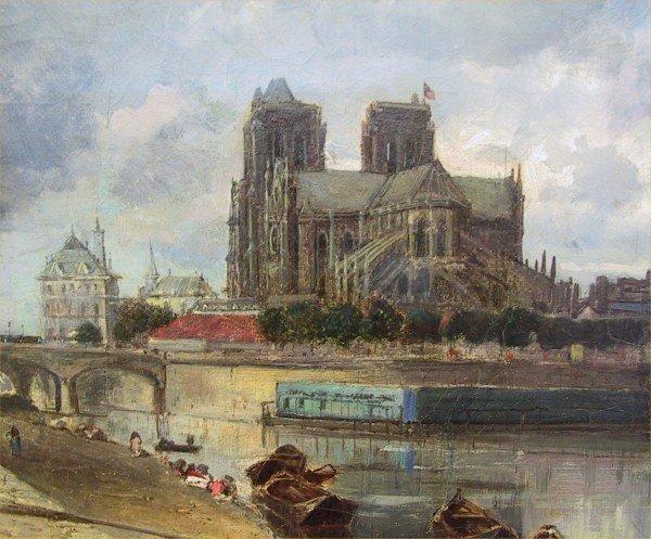 Notre-Dame de Paris sans sa flèche, par le peintre Johan Jongkind, 1852