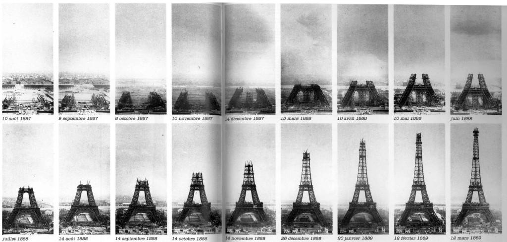 la construction de la Tour Eiffel (2 ans, 2 mois et 5 jours) en 18 vues