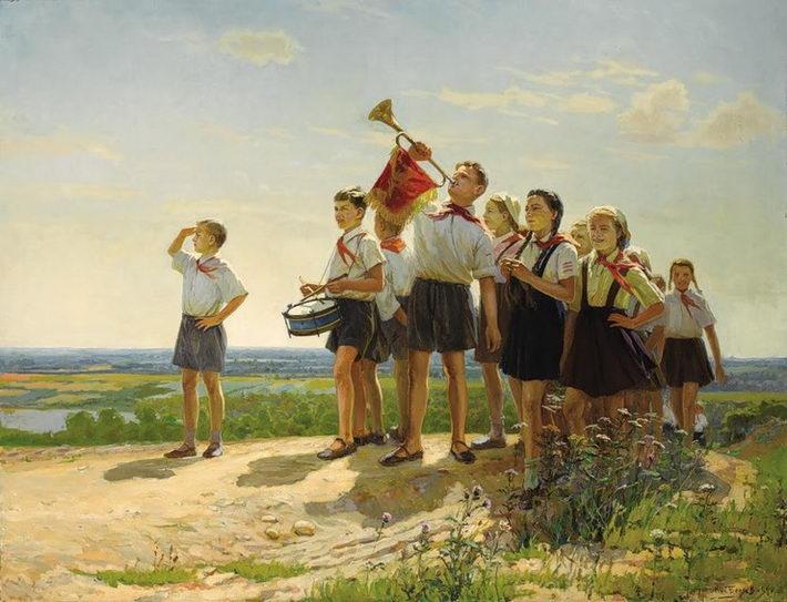 Nikolay Beliaïev. Les heureux. 1949 - Николай Беляев. Счастливые. 1949г.