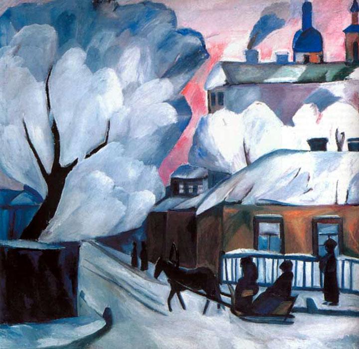 L'hiver moscovite, Natalia Gontcharova, années 1900 – Московская зима. Наталья Гончарова.