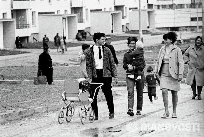 Une famille soviétique dans les années 1970