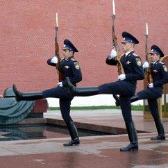 La relève de la Garde du Kremlin. Смена караула.