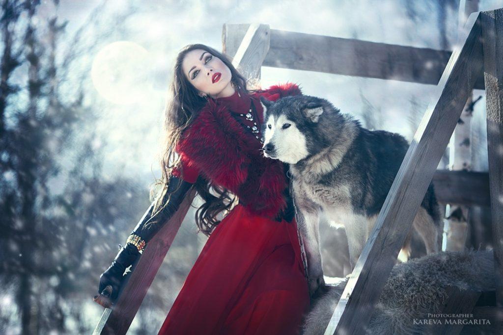 Jphoto femme russe loup maria kareva 1024x683 - Rencontre avec la photographe russe Margarita Kareva. Маргарита Карева
