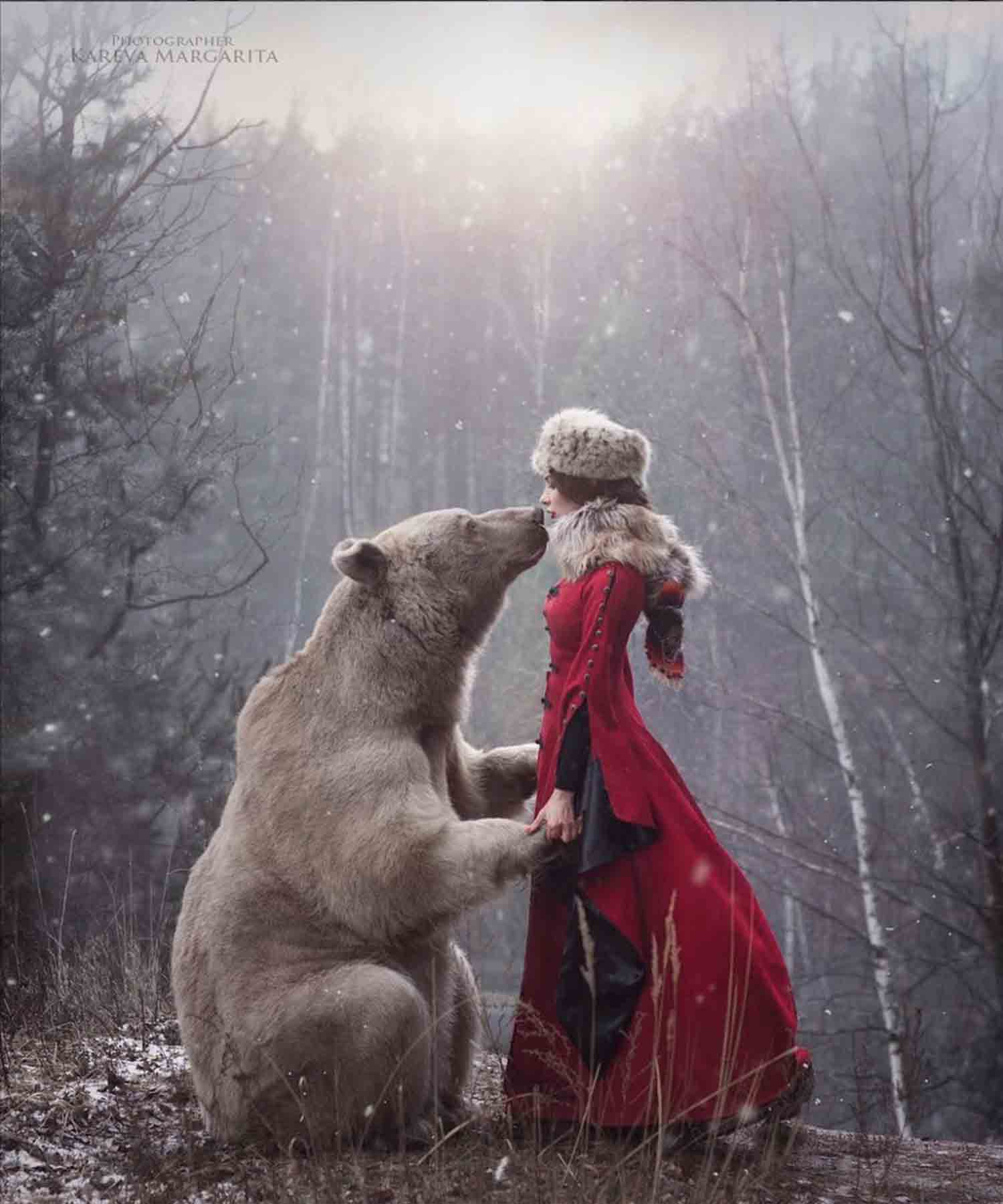 photo femme russe ours amria kareva - Apprendre le russe
