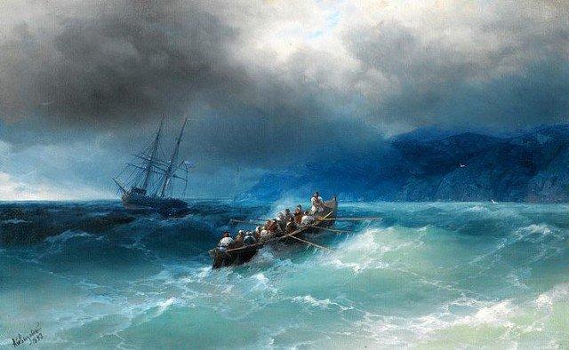 Ivan Aïvazovsky tempête en mer noire peintre russe - Agenda culturel russe 2019 aux Editions Alliance Russe.