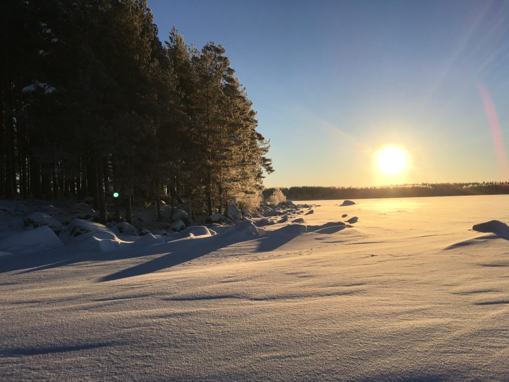 Soleil hiver lac silencieux koudama 1024x768 - Fêter le Nouvel An en Russie et apprendre le russe ! C Новым годом!