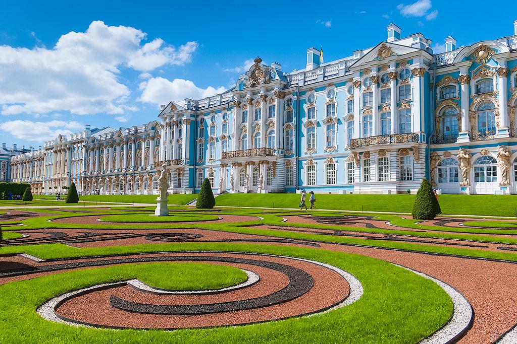 Palais Cartherine Tsarskoïe Selo Екатерининский дворец - Stage de Russe à Saint-Pétersbourg, Niveau Elémentaire