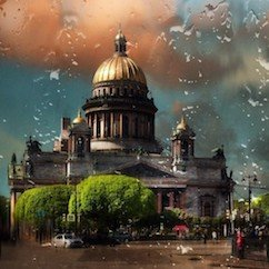 Saint Pétersbourg Saint Isaac pluie Исаакиевский собор дождь  - Stage de Russe à Saint-Pétersbourg, Niveau Elémentaire