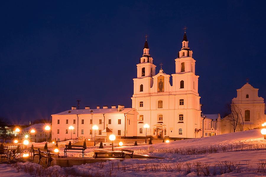 Minsk hiver cathédrale orthodoxe utilisé dans la page Stage de Russe en Biélorussie lors du Carnaval Slave
