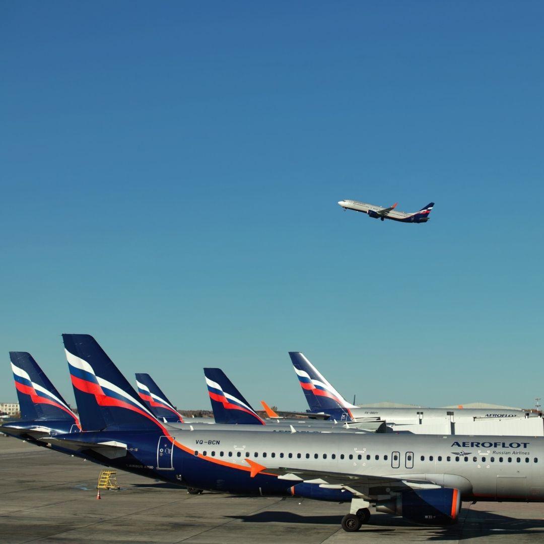avions avec drapeaux russes